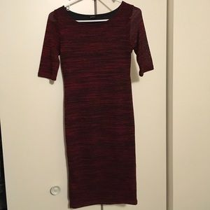 Red Sweater Dress. Perfect for the Holiday